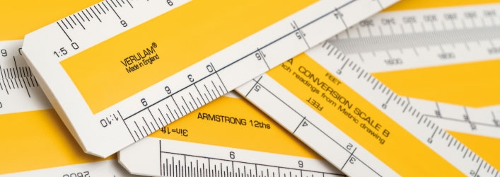 Verulam oval scale rulers
