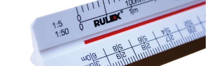 Rulex scale rulers - available to the promotional market