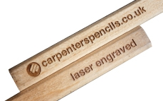 Laser engraved carpenter pencils